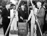 Laying the cornerstone for Virginia Union University Library